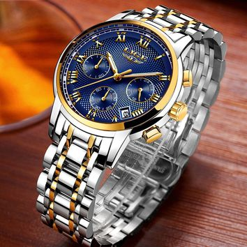 LIGE Brand Watches Men Watch Luxury Quartz Watch Business Classy Waterproof Wristwatch