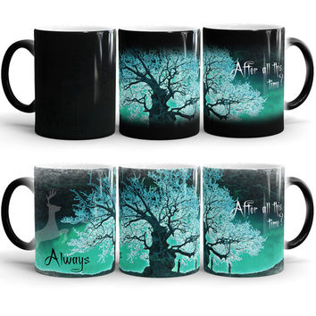 Harry Potter Always Color Changing Mug, After all this time? Always - Harry Potter quote mug, Severus Snape Tribute, Heat Changing Morphing