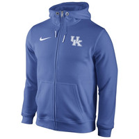Kentucky Wildcats Nike Icon Club Full Zip Hoodie – Royal Blue