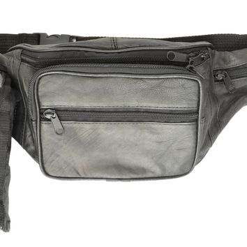 Pouch With water Bottle holder Crafted of fine lambskin leather