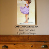 Canvas Children's Wall Art - Choose from any of Phyllis Harris Designs art