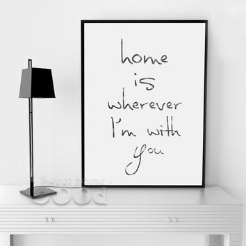 Vintage Home Quote Canvas Art Print Poster, Wall Pictures for Home Decoration, Wall Decor YE006