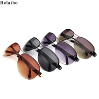 Belaibo Men's Driving Luxury Sun glasses Design Men Classic Brand Aviation Sunglasses HD Polarized Goggle Style Eyewear