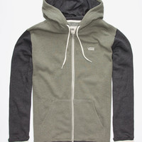 Vans Core Colorblock Mens Zip Hoodie Olive  In Sizes