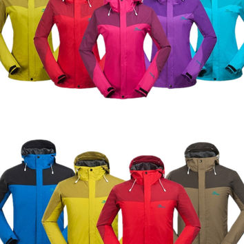 Spring Outdoor Hunting Jacket Women&Men Hooded Hiking&Camping Jacket Couples Mesh Lining Brand Thin Jackets High Quality