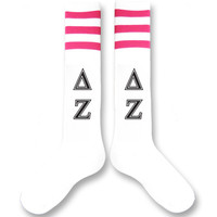 Delta Zeta Sorority Letters Knee Highs