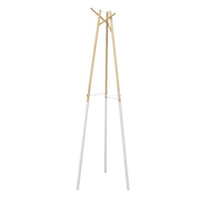 White Dipped Blonde Wood Coat Rack
