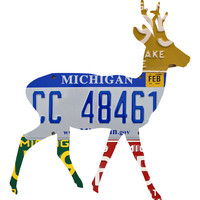 Michigan License Plate Deer