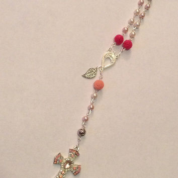 Beautiful, Hand-crafted Mini Rosary