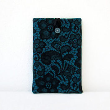 Lace print Kindle case, 7 inch tablet cover, padded tablet sleeve, nexus 7, kindle fire, Samsung galaxy tab 7, handmade in the UK