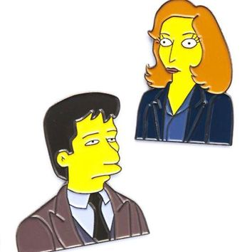The Springfield Files Pin Set