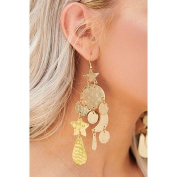 Parting Ways Drop Earrings (Gold)