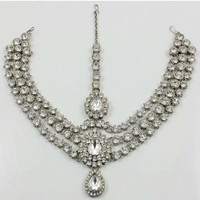 Silver 3 Row Headchain Matha Patti