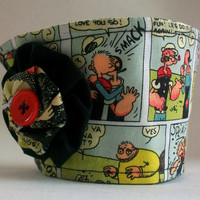 Popeye the Sailor Man Coffee Cup Cozy / Olive Oyl Drink Sleeve / Comic Strip
