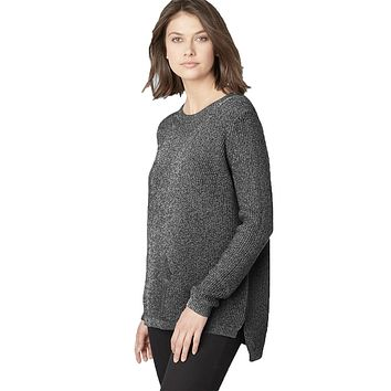 Emma Shaker Stitch Sweater in Charcoal by 525 America