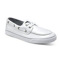 Sperry Top-Sider Girls' Bahama Boat Shoes - White/Silver