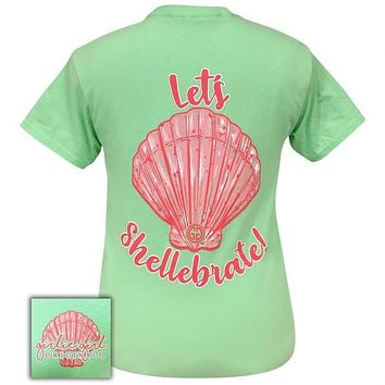 Girlie Girl Originals Preppy Lets Shellabrate Mint T-Shirt