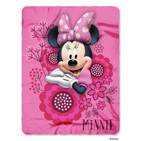 Disney's Minnie Mouse So Many Bows Fleece Throw (45in x60in)