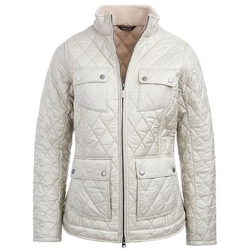 Filey Quilted Jacket in Mist by Barbour