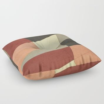 Vintage Patchwork Floor Pillow by DuckyB