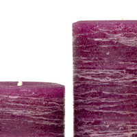 """Plum Rustic Pillar Candle 3x4"""" 3x6 and 3x9"""""""