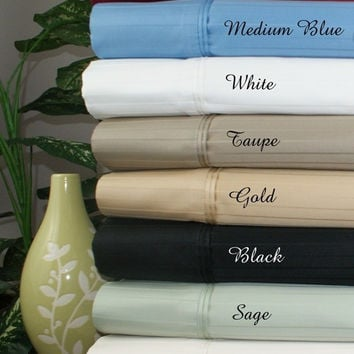 1000 Thread Count Striped Egyptian Cotton Bed Sheet Sets