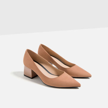 MEDIUM HEEL POINTED SHOES DETAILS