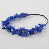 Full Tilt Chiffon Flower Headband Navy One Size For Women 21998721001