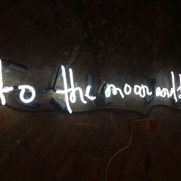 To The Moon And Back Personalized Neon Sign
