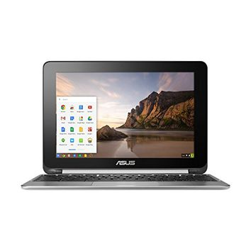 "ASUS C100PA-DB01 Chromebook Flip 10.1"" Touchscreen Laptop (Quad Core, 2GB, 16GB SSD) - Aluminum Chassis (Certified Refurbished)"