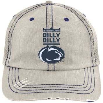 Penn State Nittany Lions : Dilly Dilly : 6990 Distressed Unstructured Trucker Cap