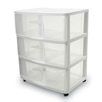 Large Three Drawer Cart      C