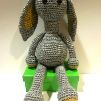 Cute and Simple Crochet Amigurumi Bunny Rabbit - PATTERN ONLY