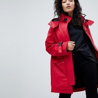 ASOS Parka with Funnel Neck and Buckles at asos.com