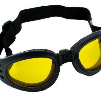 Yellow Lens Goggles Black Frame Sunglasses