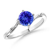 Classic Curved Solitaire Tanzanite Ring