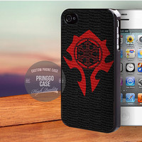 World of Warcraft Horde case for iPhone 5,5s,5c,4,4s,6,6+,iPod 4th 5th,Samsung Galaxy S3,S4,S5,Note 2,3,HTC One,LG Nexus