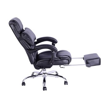 HomCom Executive Reclining Office Chair w/ Footrest - Black