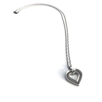 LOVE Heartbeat Necklace - Sterling Silver