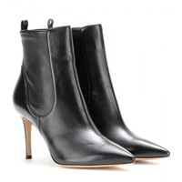 gianvito rossi - bennett leather ankle boots