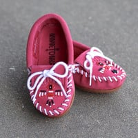 Girls Thunderbird Pink Moccasins by MINNETONKA