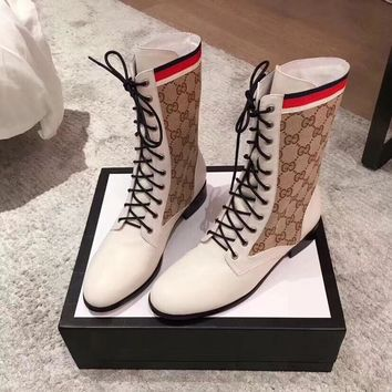 GUCCI GG Leather boot