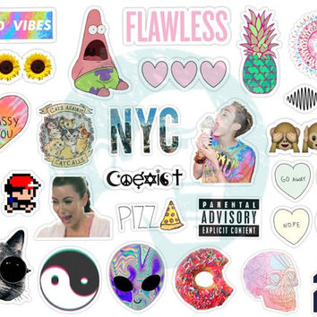 Set #124. Tumblr Stickers. Stickers. Set of stickers. Decals