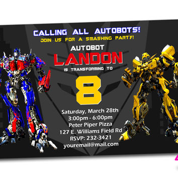 shop transformers invitations on wanelo, Birthday invitations