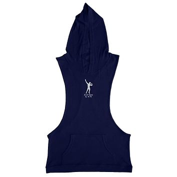 Men Bodybuilding Tank Top Gym wear Fitness Vest Muscle Clothing Solid Casual Hoodie body Building Hoodie O neck Plain Cotton