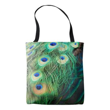 Peacock Feather Textures Photo Tote Bag