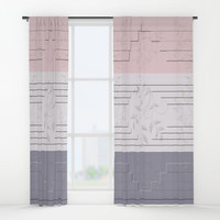 Selago Classic Rose Manatee Window Curtains by deluxephotos