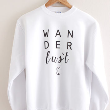 Wanderlust Moon Graphic Crewneck Sweatshirt