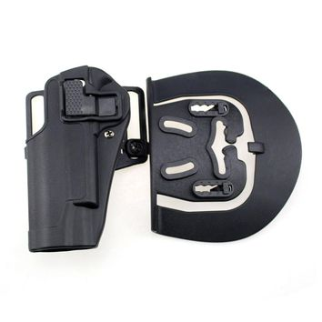 Tactical Colt 1911 Holster Hunting CQC Gun Holster Concealment Waist Belt Loop Paddle Holster for Left Hand