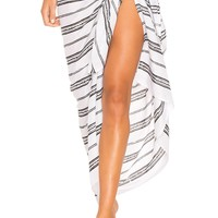 Tiare Hawaii Sarong in Arrow Black & White | REVOLVE
